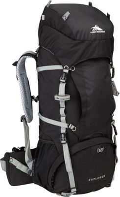 High Sierra Explorer 55 Black/Black/Silver - High Sierra Day Hiking Backpacks