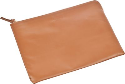Genius Pack Leather Document Case Tan - Genius Pack Non-Wheeled Business Cases