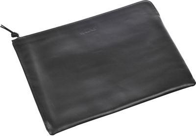 Genius Pack Leather Document Case Black - Genius Pack Non-Wheeled Business Cases