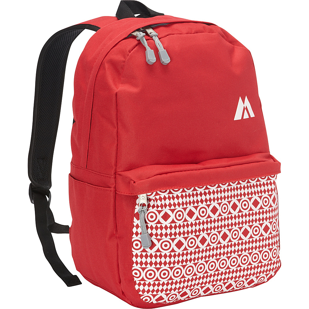 Everest Printed Pattern Backpack Red Everest Business Laptop Backpacks
