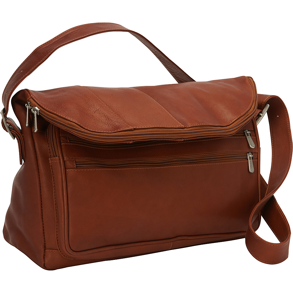 Piel Cross Body Messenger Saddle - Piel Messenger Bags - Work Bags & Briefcases, Messenger Bags
