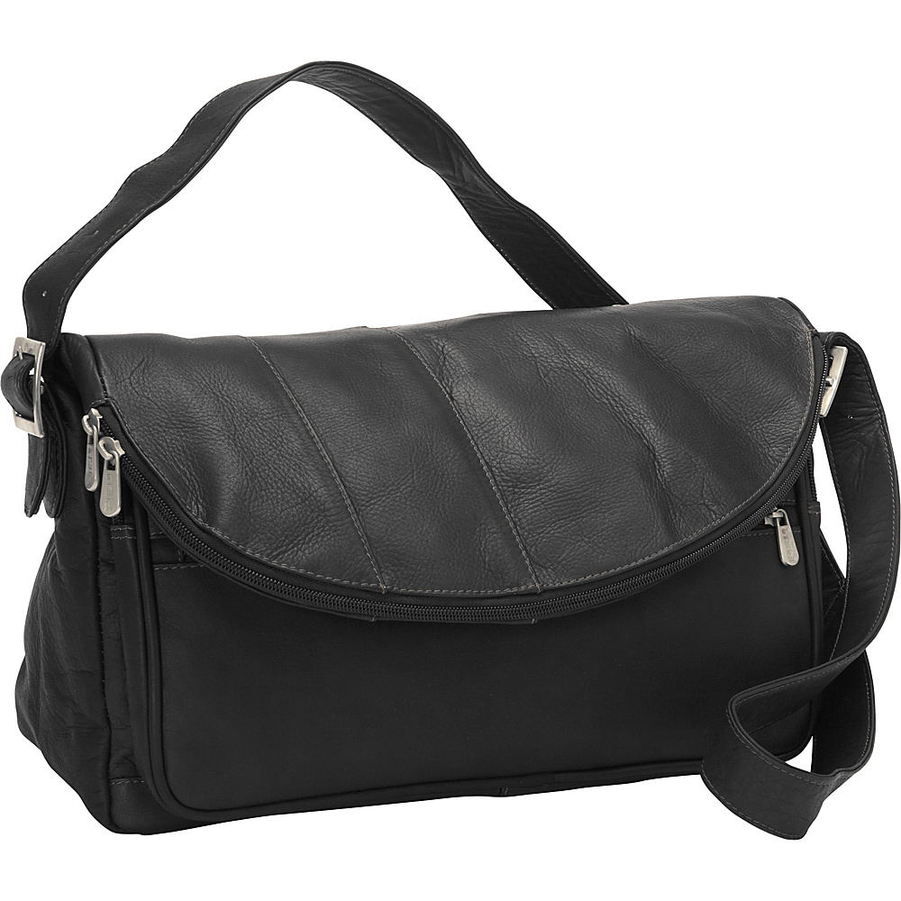Piel Cross Body Messenger Black - Piel Messenger Bags - Work Bags & Briefcases, Messenger Bags