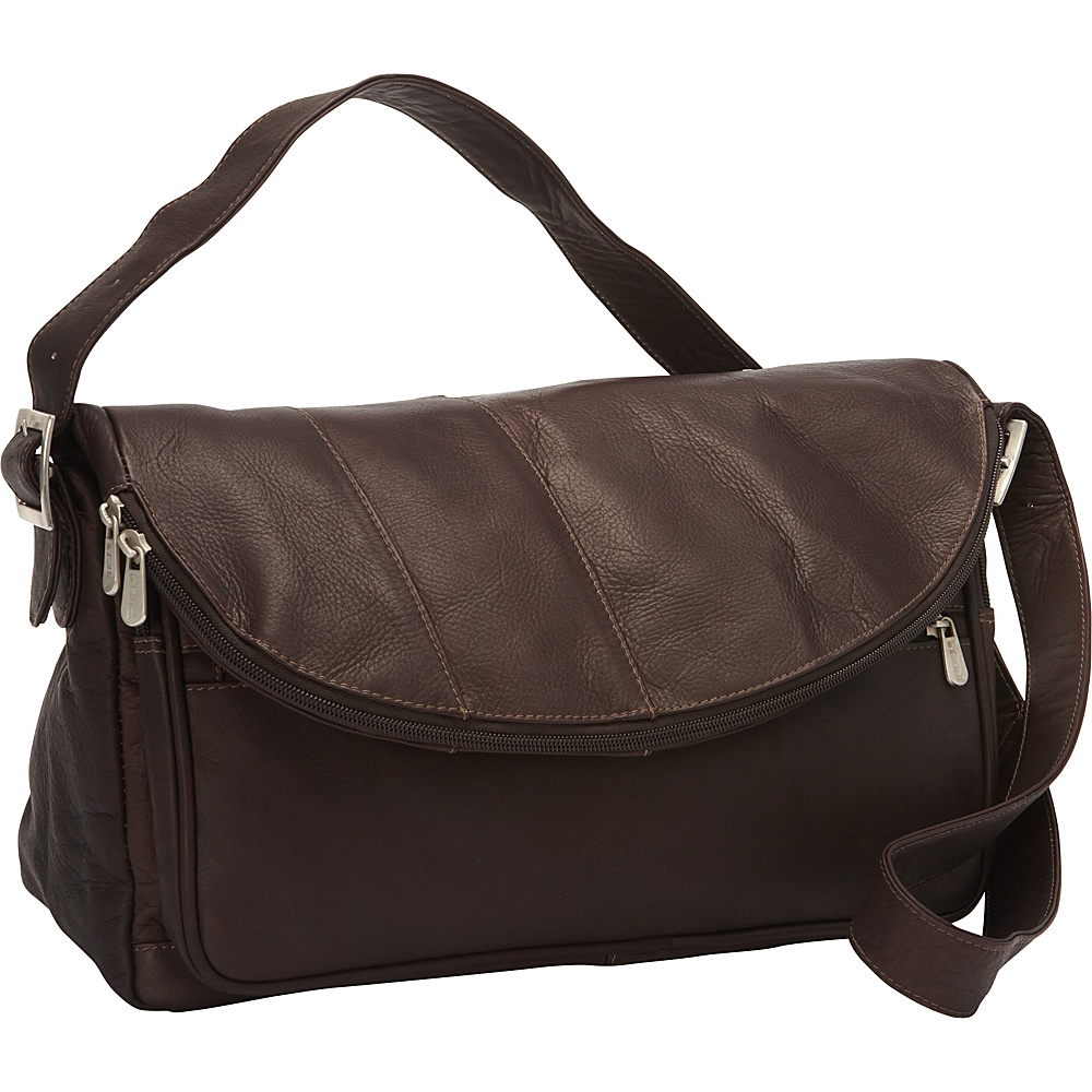 Piel Cross Body Messenger Chocolate - Piel Messenger Bags - Work Bags & Briefcases, Messenger Bags