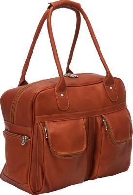 Piel Multi-Pocket Satchel Saddle - Piel Luggage Totes and Satchels