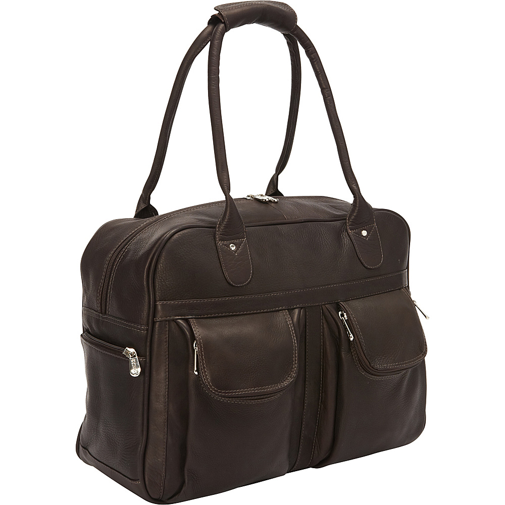 Piel Multi-Pocket Satchel Chocolate - Piel Luggage Totes and Satchels - Luggage, Luggage Totes and Satchels