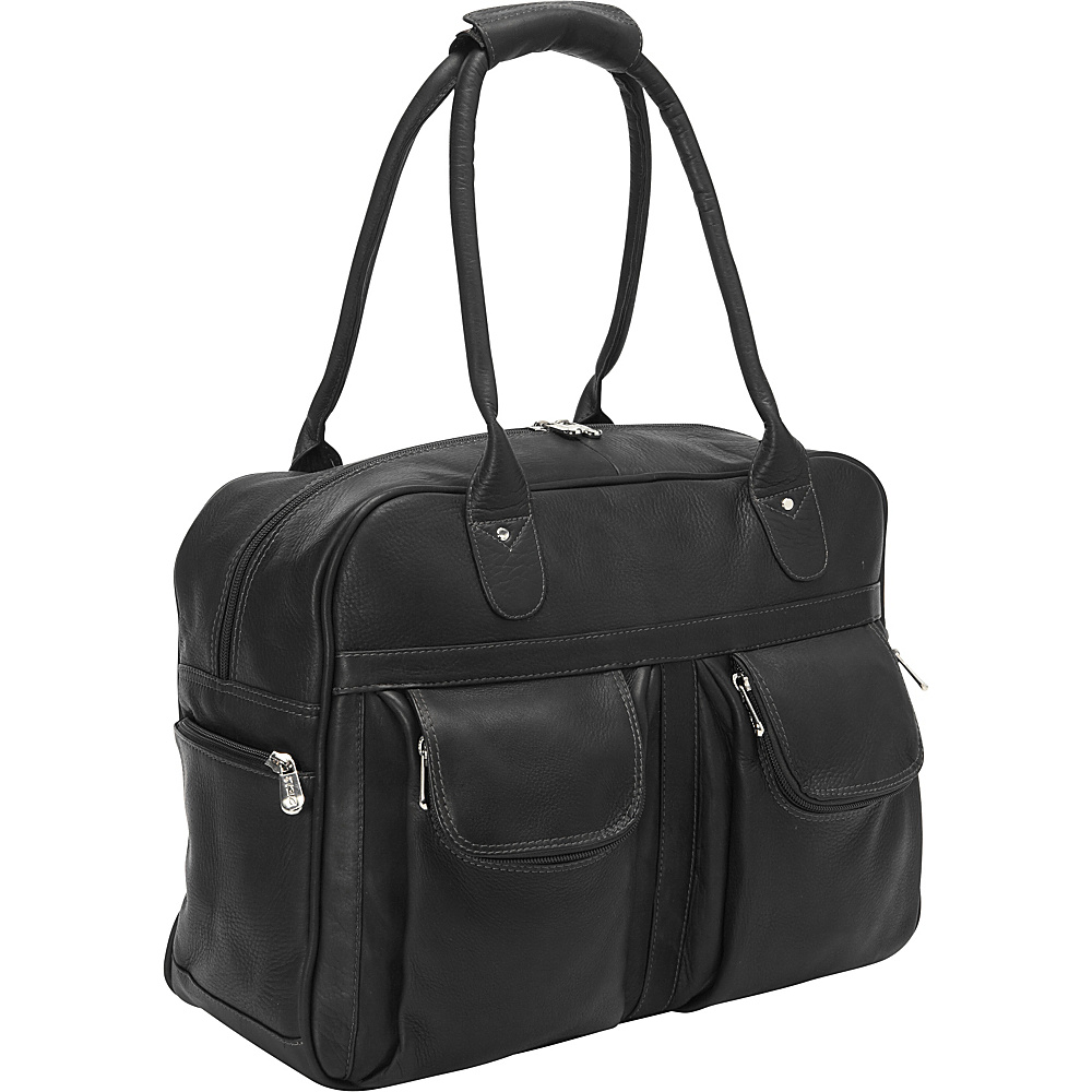 Piel Multi-Pocket Satchel Black - Piel Luggage Totes and Satchels - Luggage, Luggage Totes and Satchels