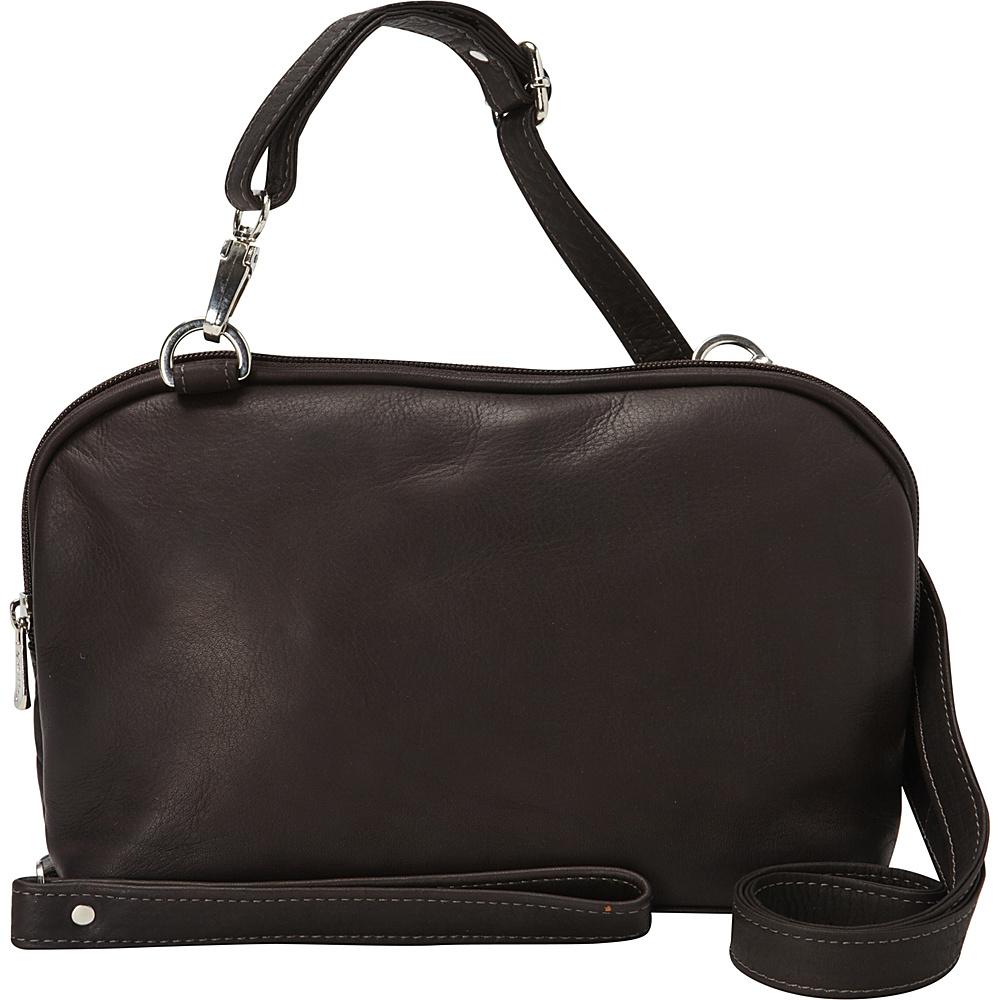 Piel Cross Body Carry-All Chocolate - Piel Leather Handbags - Handbags, Leather Handbags