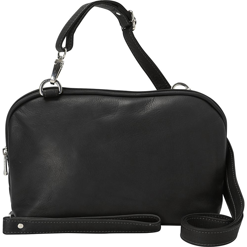 Piel Cross Body Carry-All Black - Piel Leather Handbags - Handbags, Leather Handbags