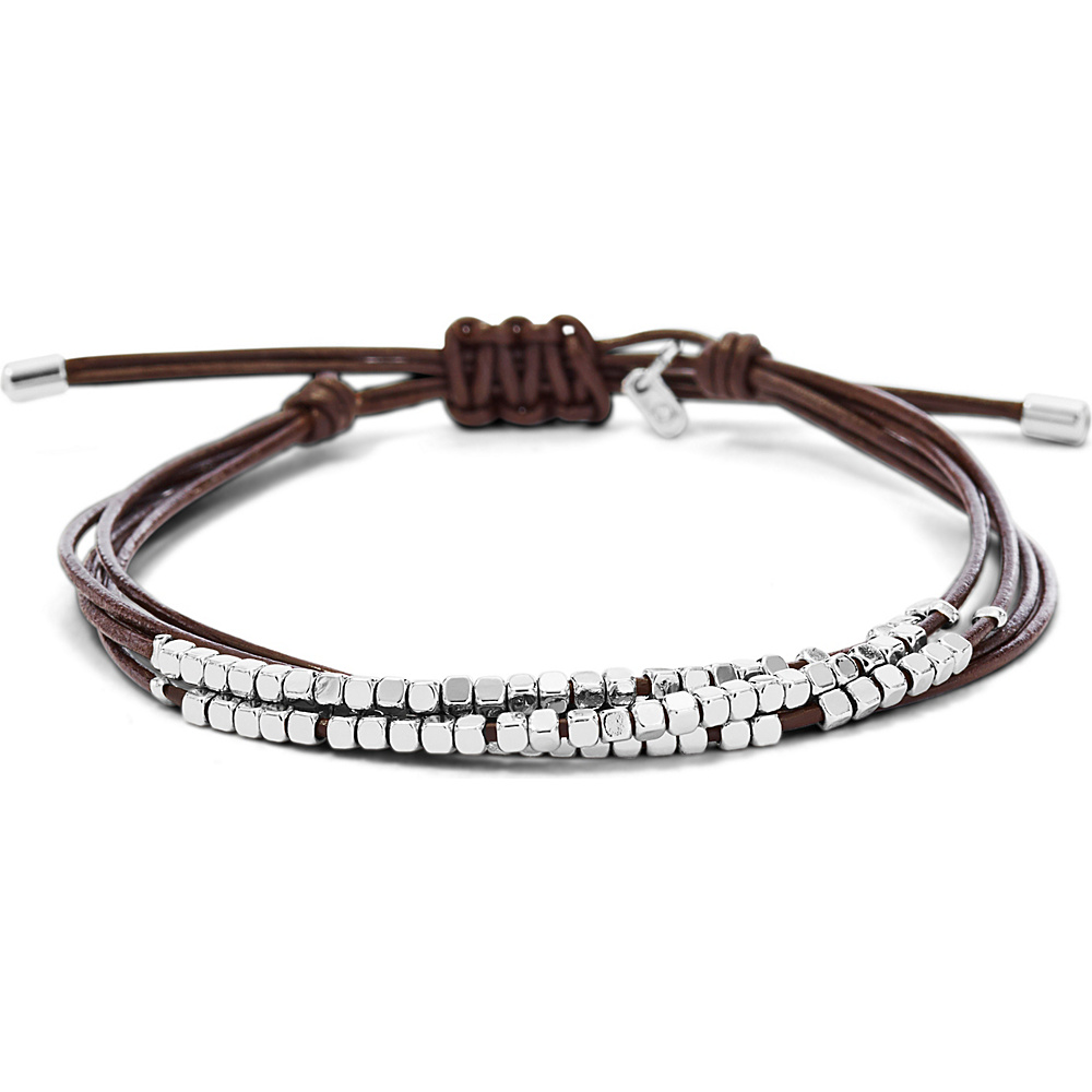Fossil Dainty Rondel Slider Brown Fossil Other Fashion Accessories