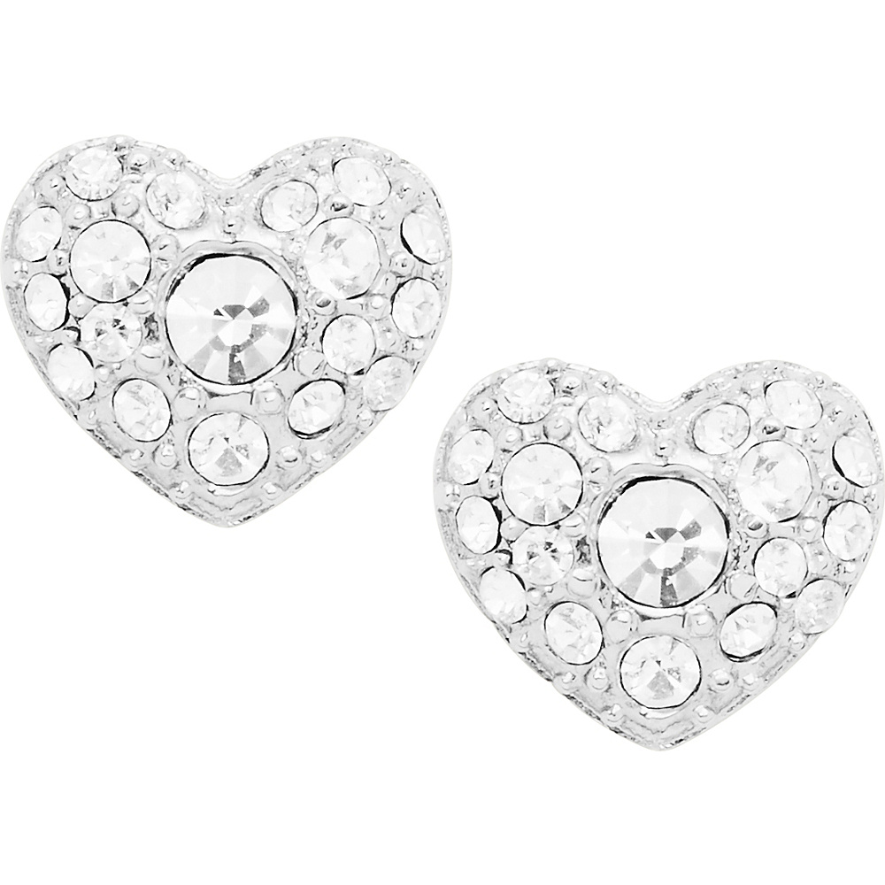 Fossil Glitz Heart Studs Silver - Fossil Other Fashion Accessories - Fashion Accessories, Other Fashion Accessories