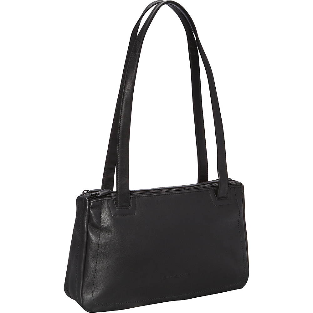 Derek Alexander E/W Twin Shoulder/Zipper Black - Derek Alexander Leather Handbags - Handbags, Leather Handbags
