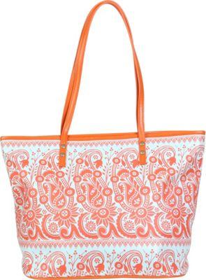 Amy Butler for Kalencom Sweet Bliss Carryall Rhapsody Tangerine - Amy Butler for Kalencom Manmade Handbags