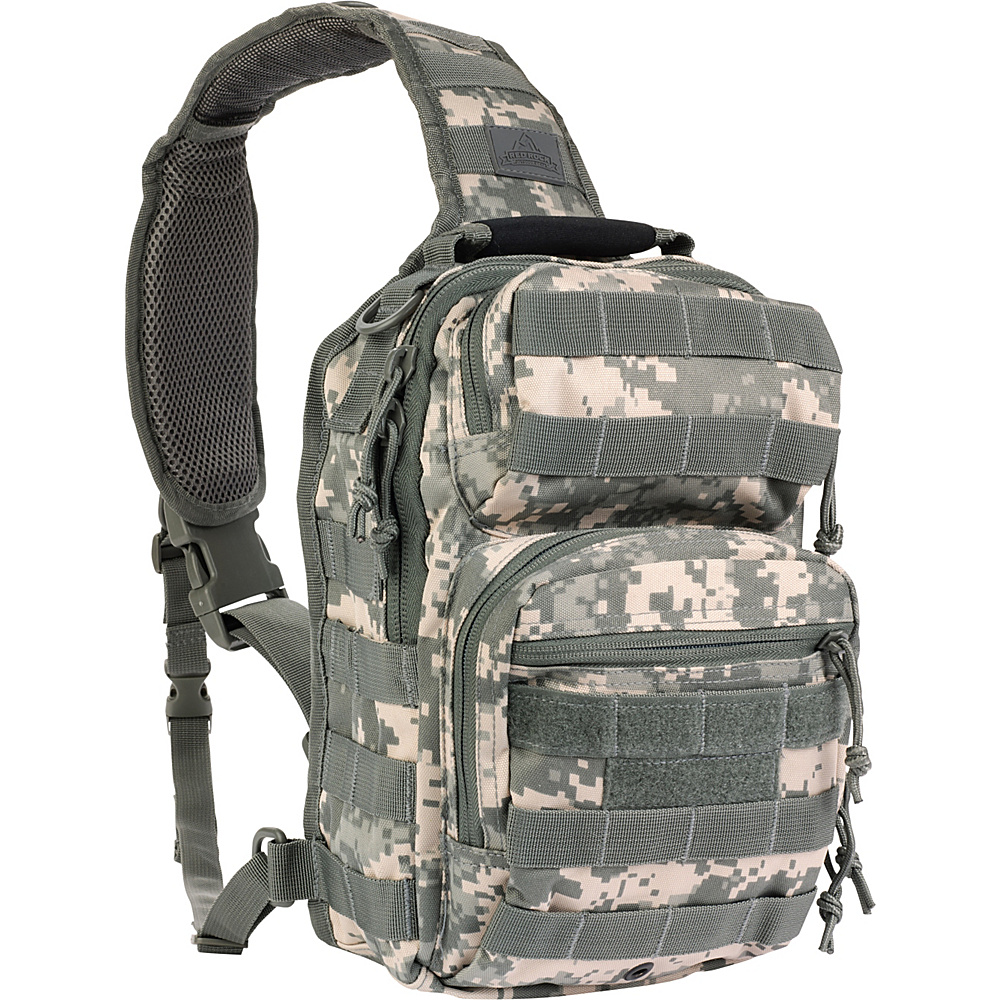 Red Rock Outdoor Gear Rover Sling Pack ACU Camouflage Red Rock Outdoor Gear Day Hiking Backpacks