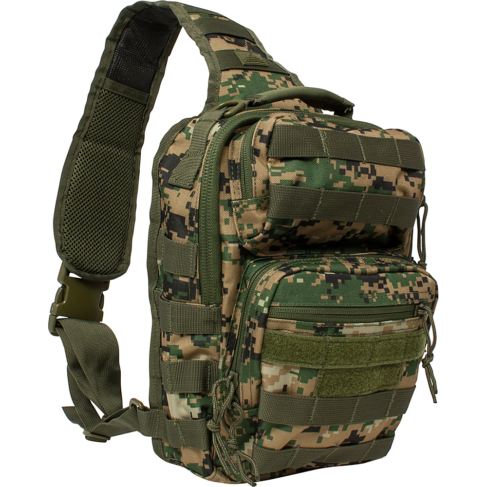 Red Rock Outdoor Gear Rover Sling Pack Woodland Digital Camouflage Red Rock Outdoor Gear Day Hiking Backpacks