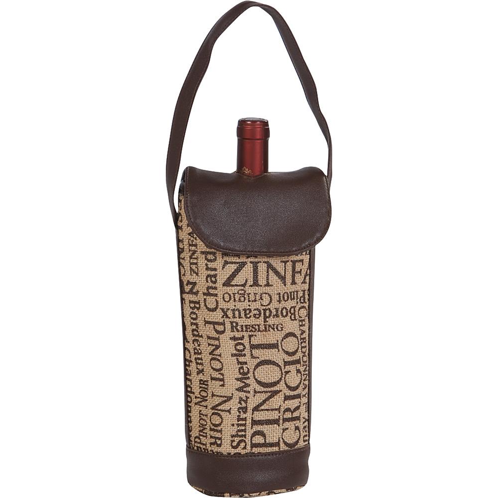 Image of Picnic Plus Cortica Single Bottle Carrier Burlap - Picnic Plus Outdoor Accessories