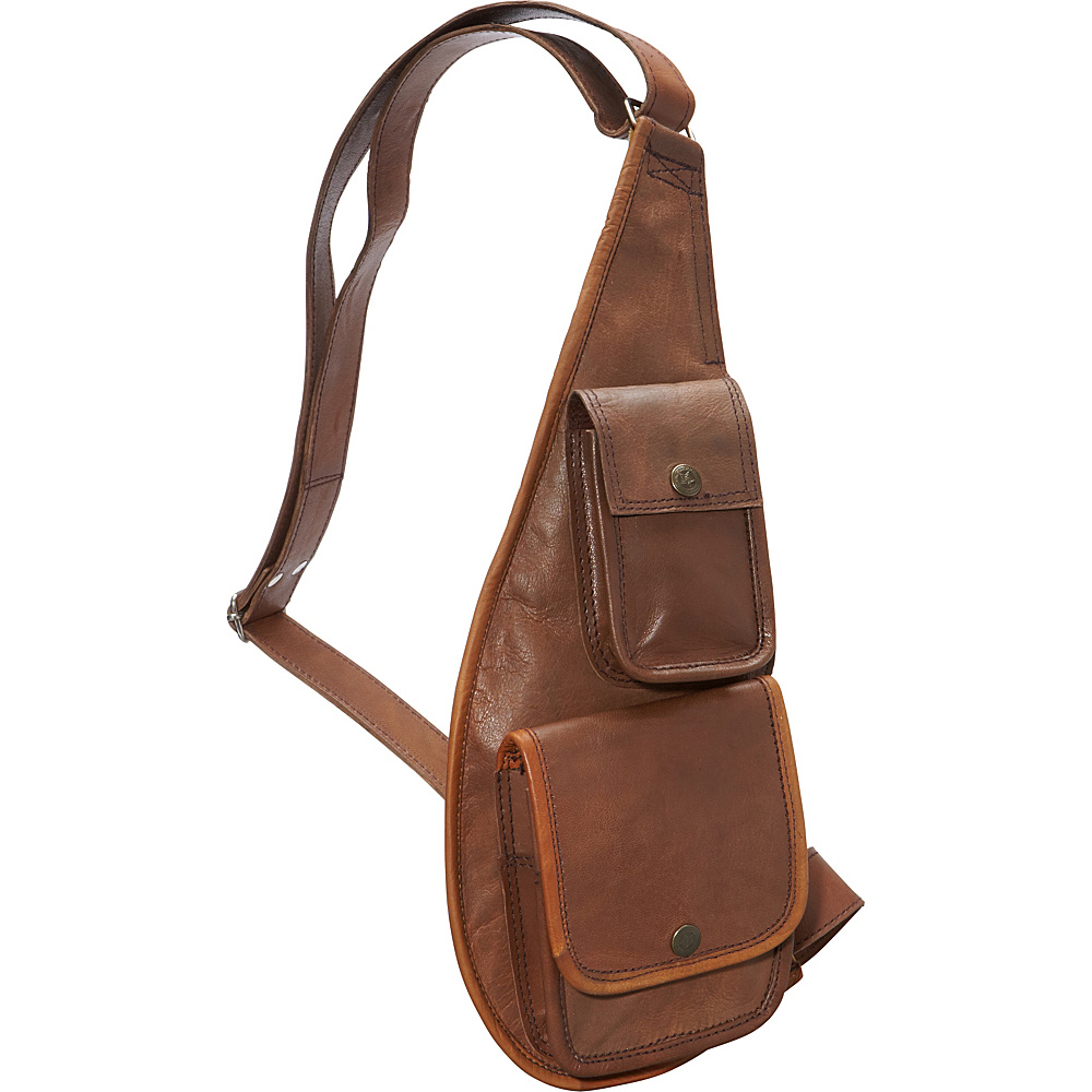 Sharo Leather Bags Sling Bag Brown and Green Two Tone - Sharo Leather Bags Leather Handbags