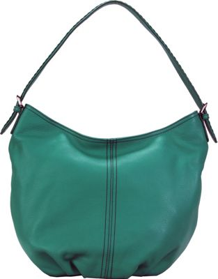 Hadaki Slouchy Hobo Viridian Green - Hadaki Leather Handbags