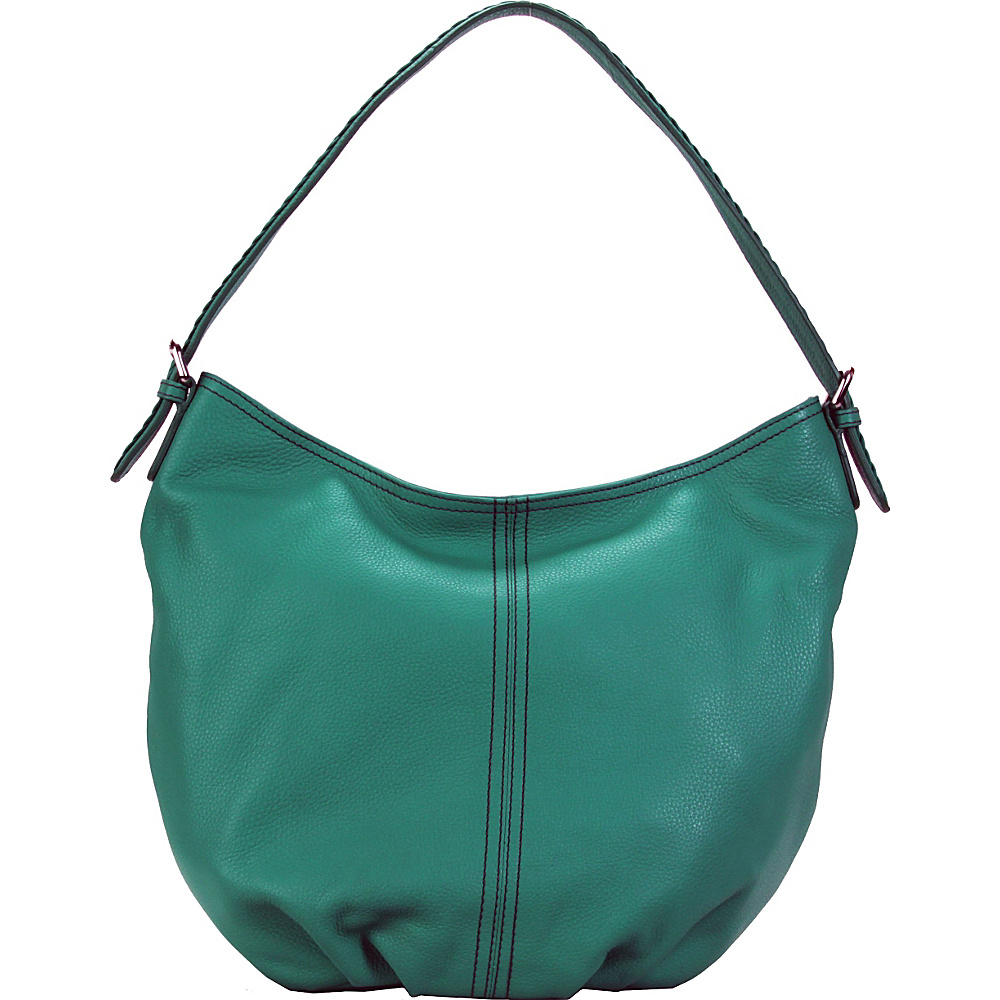 Hadaki Slouchy Hobo Viridian Green - Hadaki Leather Handbags - Handbags, Leather Handbags