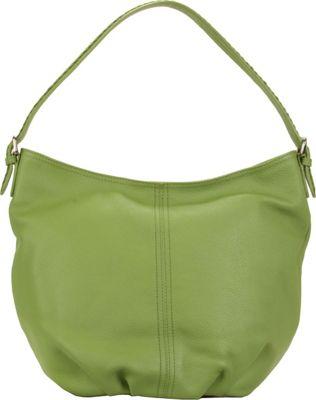 Hadaki Slouchy Hobo Piquat Green - Hadaki Leather Handbags