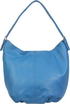 Hadaki Slouchy Hobo Deep Water - Hadaki Leather Handbags
