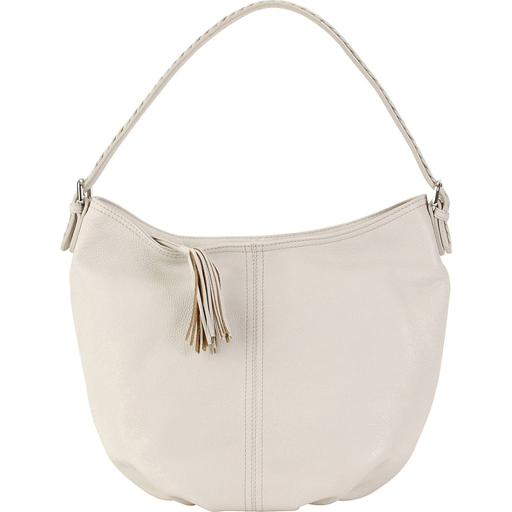 Hadaki Slouchy Hobo Ivory - Hadaki Leather Handbags - Handbags, Leather Handbags