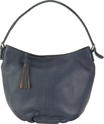 Hadaki Slouchy Hobo Marine Blue - Hadaki Leather Handbags