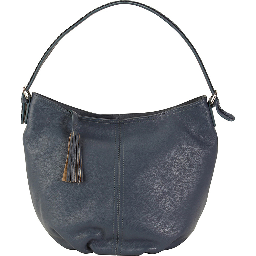 Hadaki Slouchy Hobo Marine Blue - Hadaki Leather Handbags - Handbags, Leather Handbags