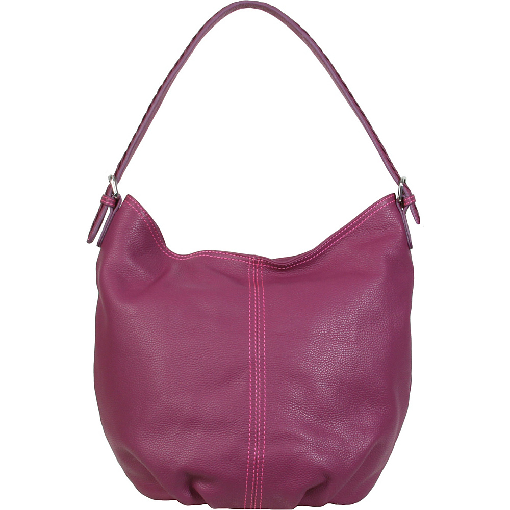 Hadaki Slouchy Hobo Plum - Hadaki Leather Handbags - Handbags, Leather Handbags