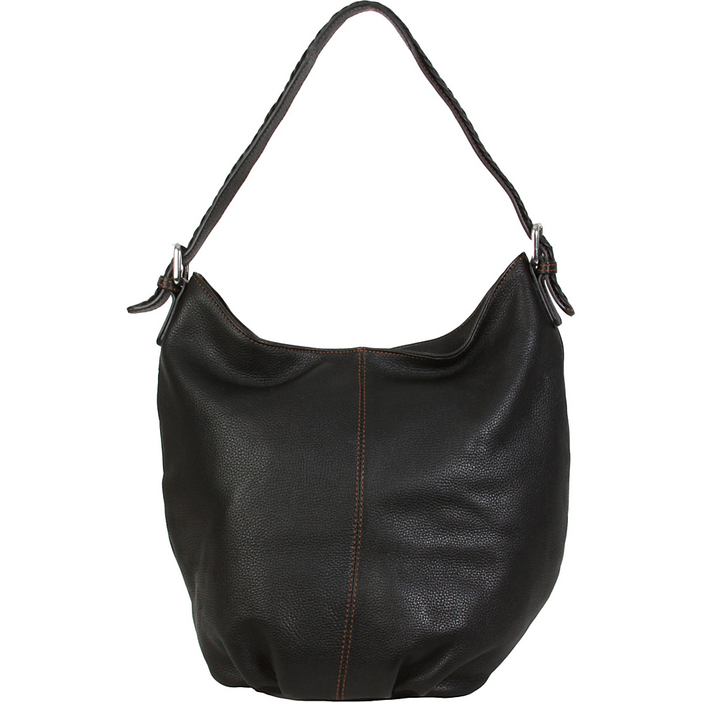 Hadaki Slouchy Hobo Black - Hadaki Leather Handbags - Handbags, Leather Handbags