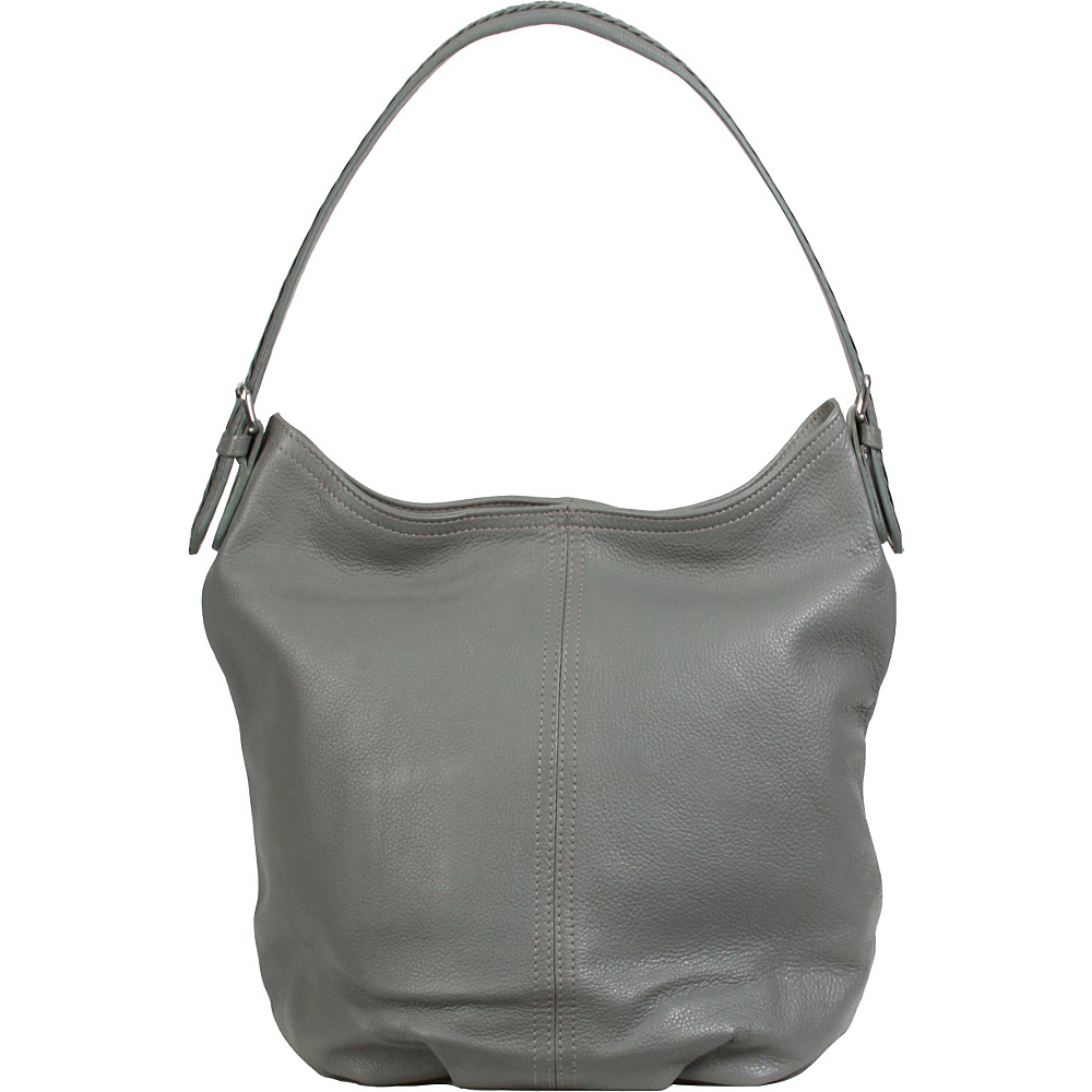 Hadaki Slouchy Hobo Pewter - Hadaki Leather Handbags - Handbags, Leather Handbags