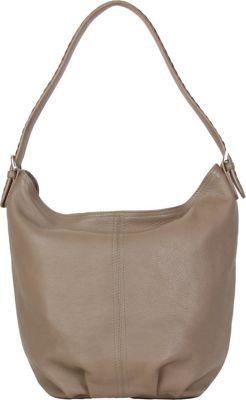 Hadaki Slouchy Hobo Taupe - Hadaki Leather Handbags