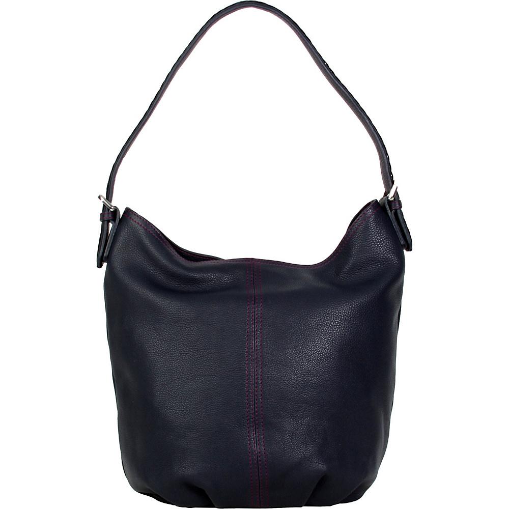 Hadaki Slouchy Hobo Navy - Hadaki Leather Handbags - Handbags, Leather Handbags