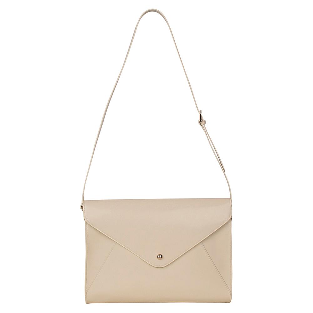 Paperthinks Large Envelope Bag Ivory Paperthinks Leather Handbags