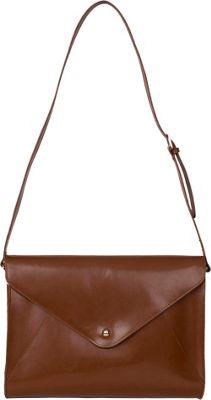 Paperthinks Large Envelope Bag Tan - Paperthinks Leather Handbags