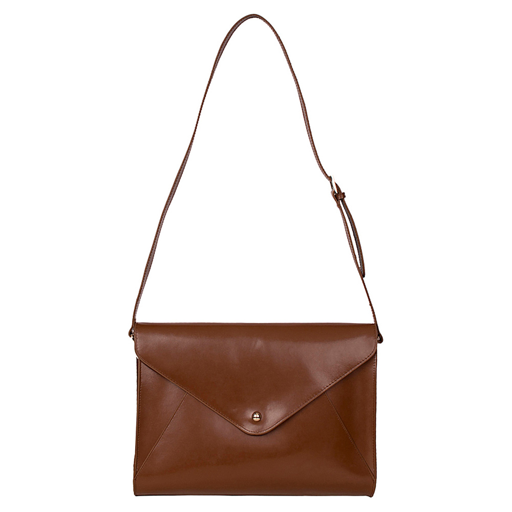 Paperthinks Large Envelope Bag Tan Paperthinks Leather Handbags