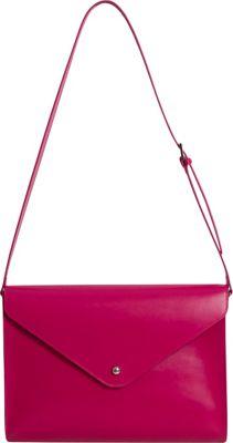 Paperthinks Large Envelope Bag Rubine Red - Paperthinks Leather Handbags