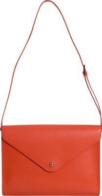 Paperthinks Paperthinks Large Envelope Bag Tangerine Orange - Paperthinks Leather Handbags