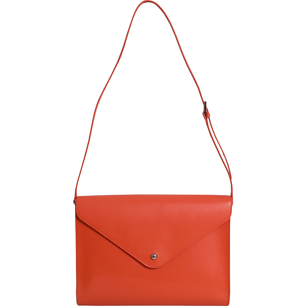 Paperthinks Large Envelope Bag Tangerine Orange Paperthinks Leather Handbags
