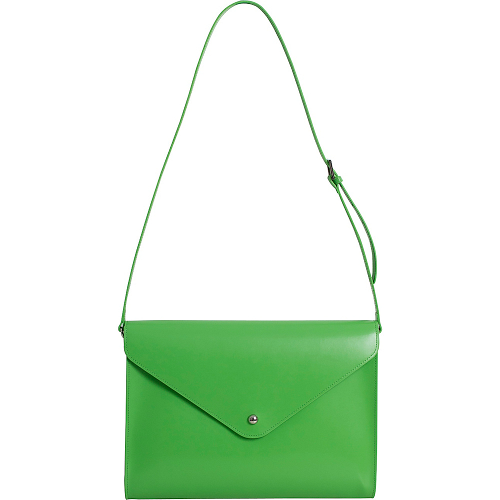 Paperthinks Large Envelope Bag Mint Paperthinks Leather Handbags