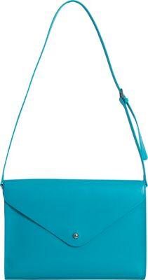 Paperthinks Large Envelope Bag Turquoise - Paperthinks Leather Handbags