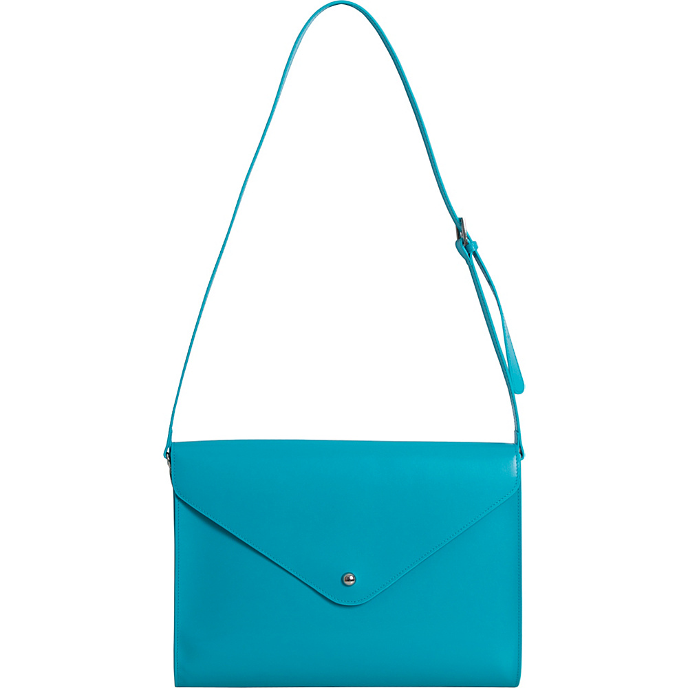 Paperthinks Large Envelope Bag Turquoise Paperthinks Leather Handbags
