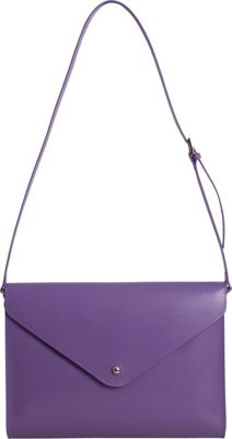 Paperthinks Large Envelope Bag Violet - Paperthinks Leather Handbags
