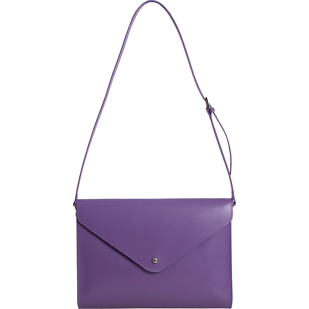 Paperthinks Large Envelope Bag Violet - Paperthinks Leather Handbags