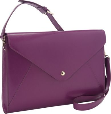 Paperthinks Large Envelope Bag Burgundy - Paperthinks Leather Handbags
