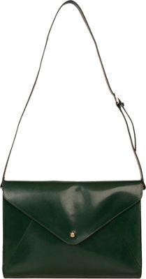 Paperthinks Large Envelope Bag Deep Olive - Paperthinks Leather Handbags