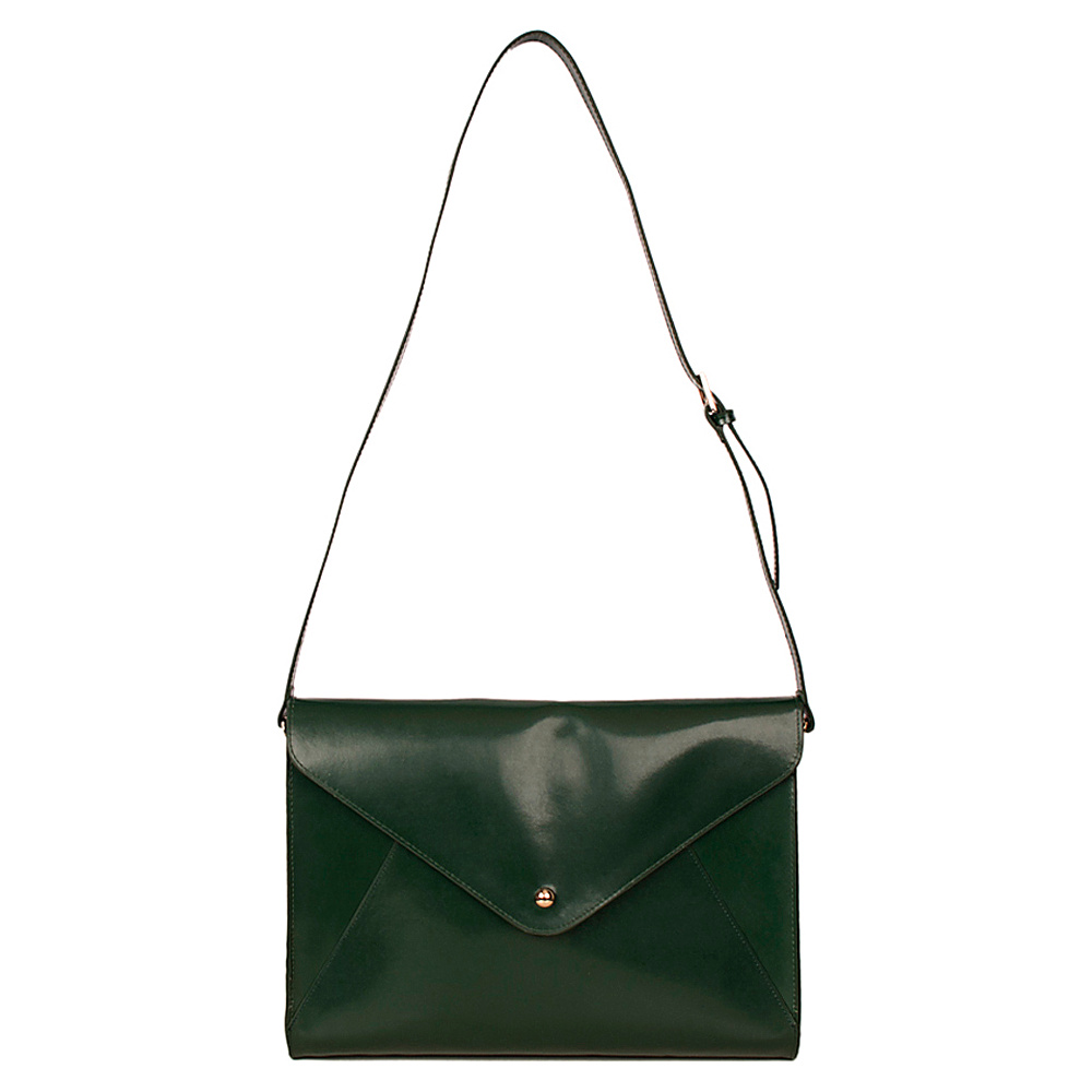 Paperthinks Large Envelope Bag Deep Olive Paperthinks Leather Handbags