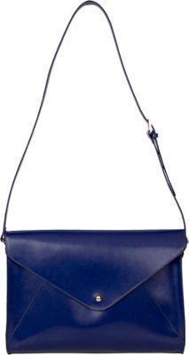 Paperthinks Large Envelope Bag Navy Blue - Paperthinks Leather Handbags