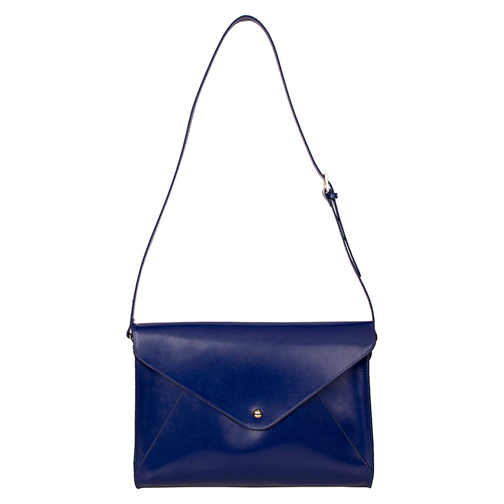 Paperthinks Large Envelope Bag Navy Blue Paperthinks Leather Handbags