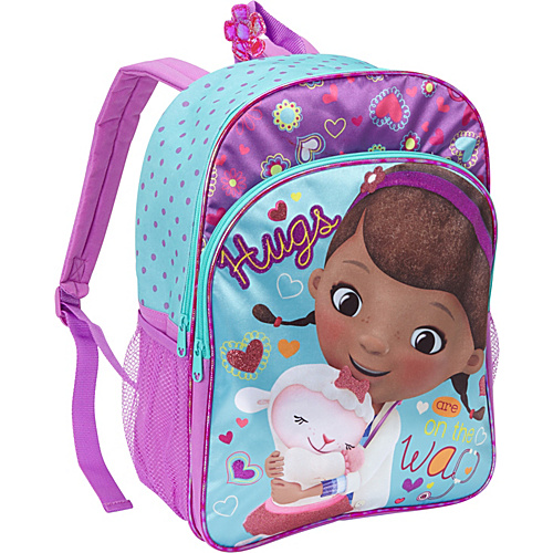 Disney Doc McStuffins Satin Backpack Blue - Disney School & Day Hiking Backpacks