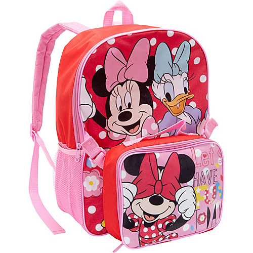 Disney Minnie Mouse & Daisy Backpack with Lunch Box Pink - Disney School & Day Hiking Backpacks